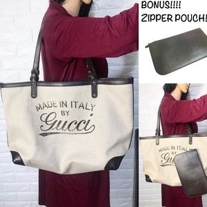 ✅RARE ✅BEAUTIFUL LARGE GUCCI TOTE AND POUCH